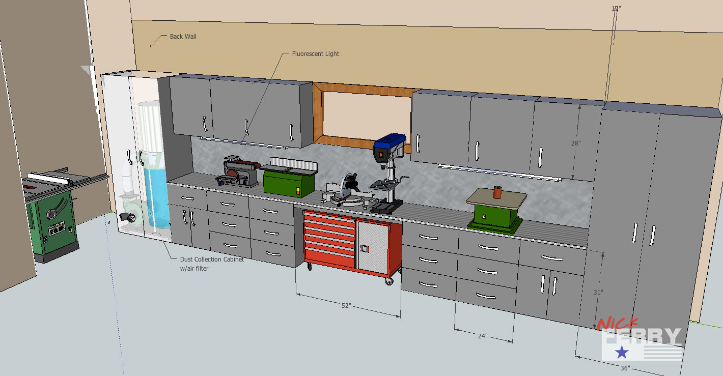Twp5 ts dust collection and shop layout the woodworking for Store layout maker